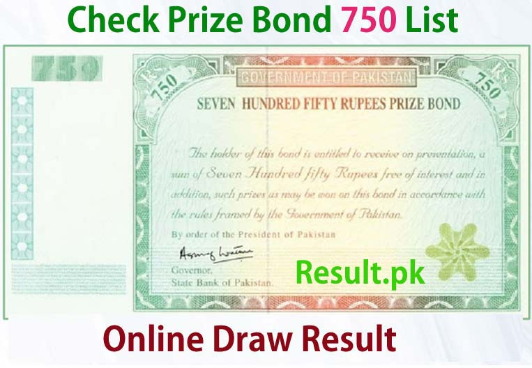 750 Prize Bond List Rawalpindi Draw 61 15 January 2015